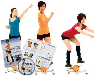 コアトレーニングとエアロビクスを同時に行う「コアエアロビクス」運動プログラム!