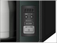 サーモス【THERMOS】真空断熱ポット コーヒーメーカー ECH-1001 CSは、前日予約もできるデジタル表示のタイマー付き。ドリップ完了お知らせブザーも付いています。
