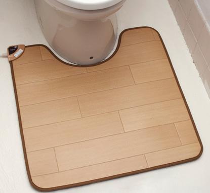 ホットトイレマット トイレでの足の冷たさも、これで解消! 高機能素材でいつでも清潔に!