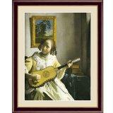 アート額絵 フェルメール F6サイズ ギターを弾く女