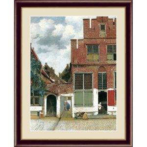 画像1: アート額絵 フェルメール F6サイズ デルフトの小路