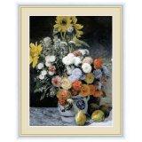 アート額絵 ルノワール F6サイズ 花瓶の花