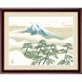 アート額絵 横山大観 F6サイズ 松に富士
