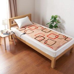 画像4: 椙山紡織 プレミアムボア電気敷毛布ロング クリエイティブスクエアー