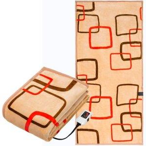 画像5: 椙山紡織 プレミアムボア電気敷毛布ロング クリエイティブスクエアー
