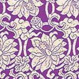 高級金襴生地使用。金襴蓮の花柄紫色地