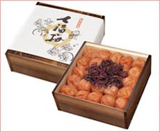 七福梅900g(焼杉木箱入り)