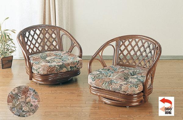 籐回転座椅子ロータイプ2脚組TK-703set 座卓やこたつにピッタリのロータイプ。和室でも洋室でも置くだけで心が和み、優雅な雰囲気が楽しめます。